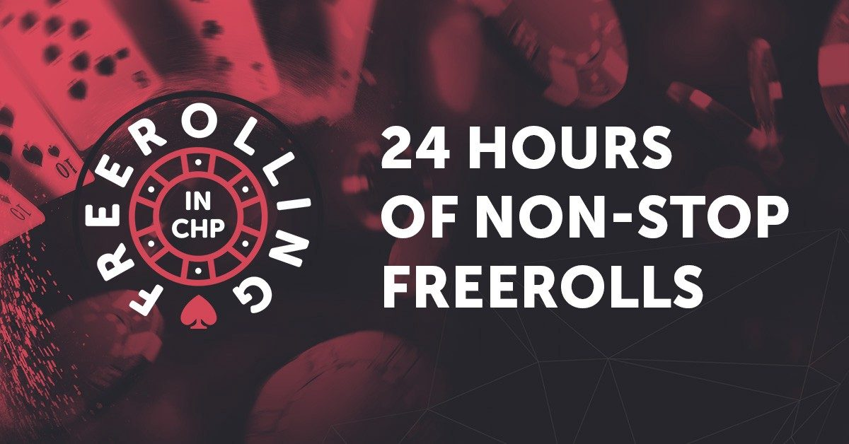 Win CHP for Free! 24 Hours of Freerolls Start this Friday