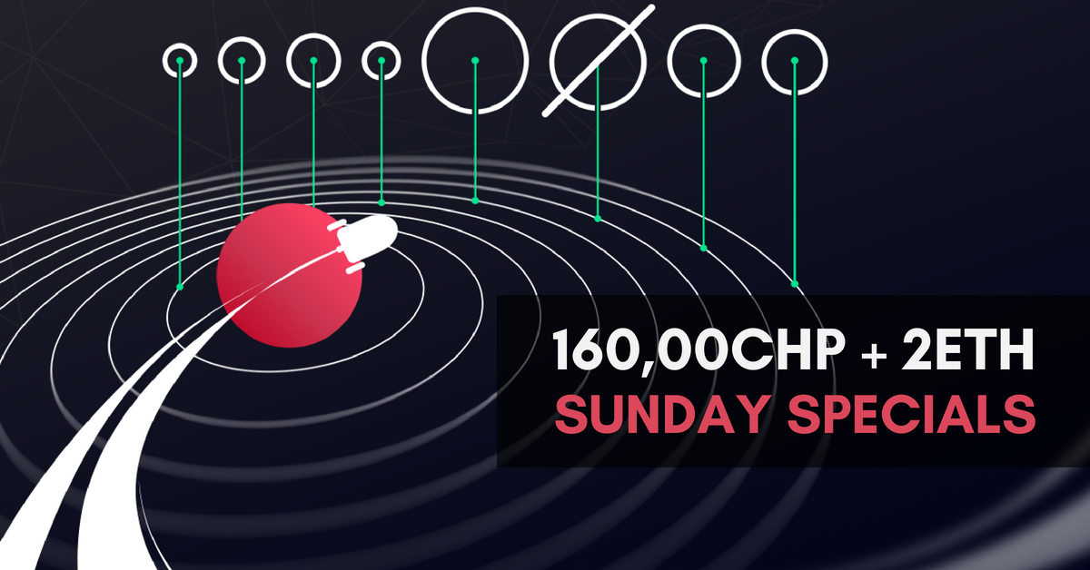 Cancel Your Sunday Plans and Play for a Cut 160,000CHP + 2ETH