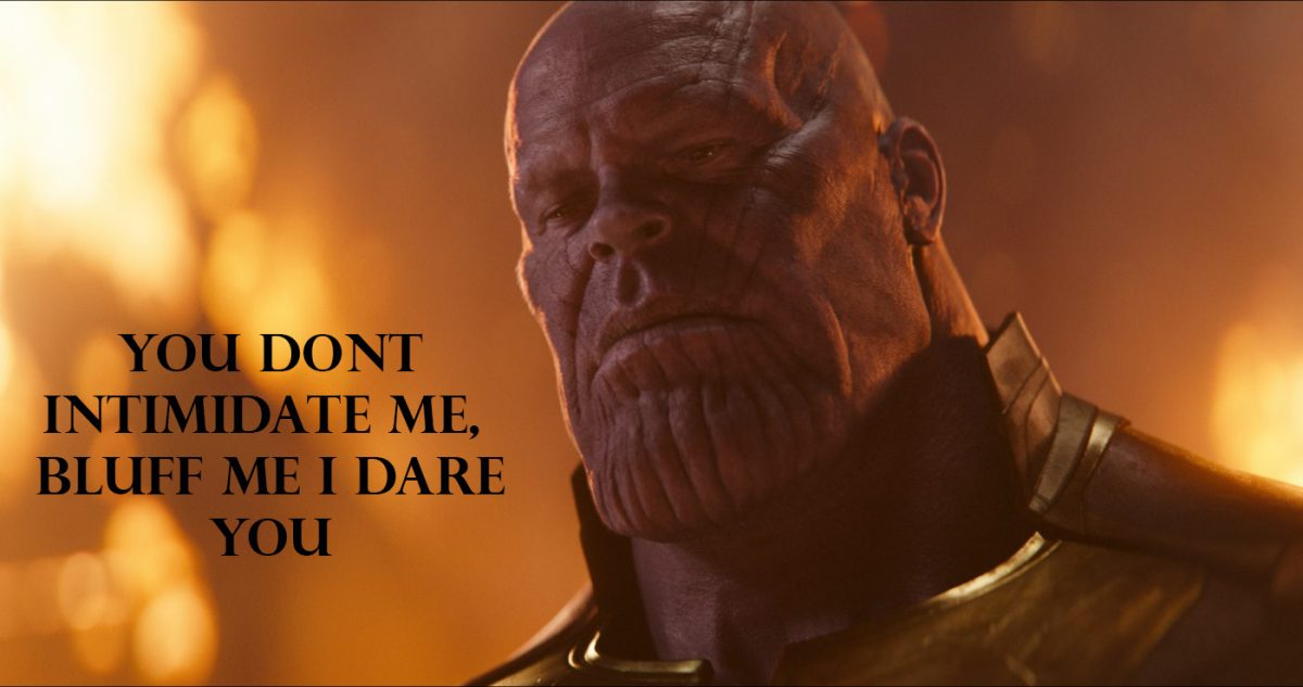 Thanos not intimidated at the poker tables