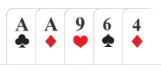 Poker hand 1 pair (one pair)