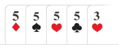 Poker hand Four of a kind / quads