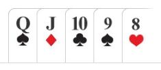 Poker hand Straight