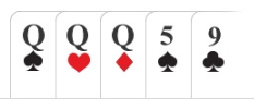 Poker hand Trips / set / 3 of a kind