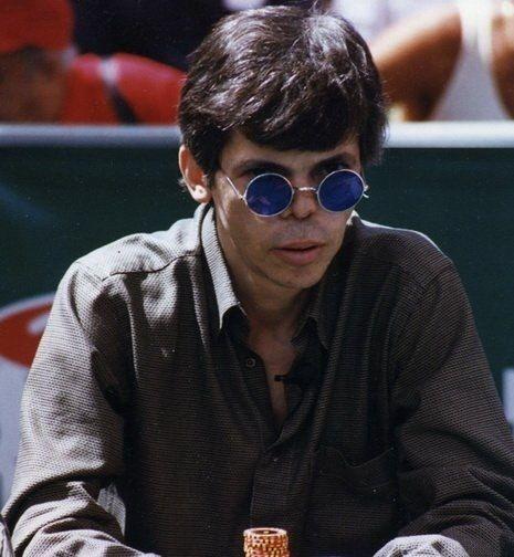 Stu Ungar sitting at poker table