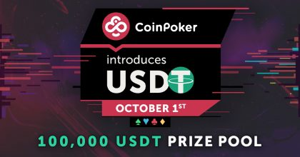 CoinPoker introduces USDT with 100,000 prize pool