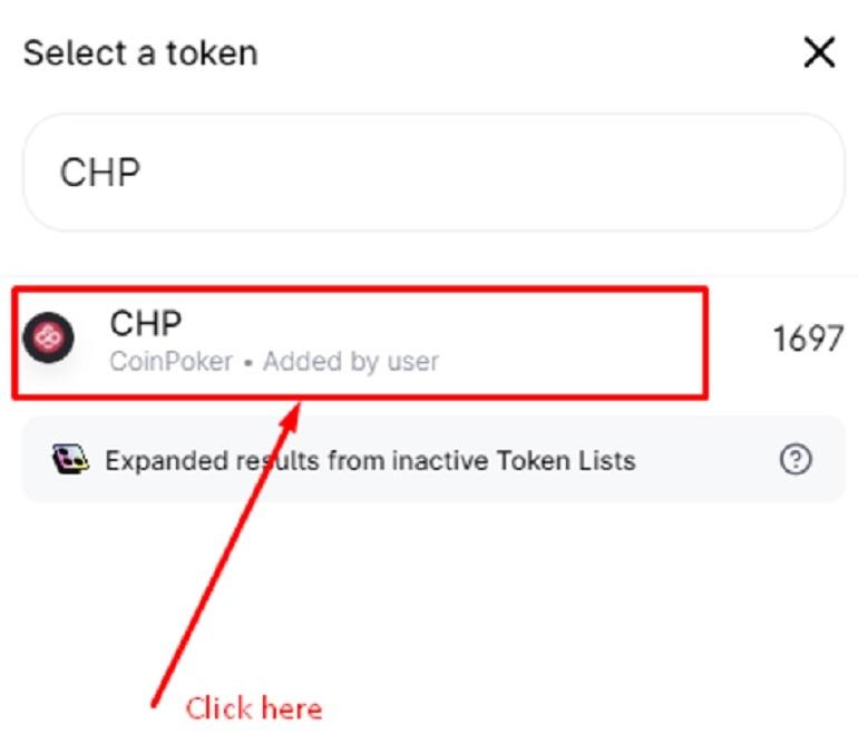 Select CHP Tokens