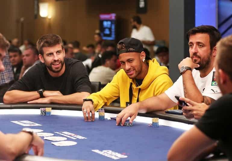 Neymar and Pique Poker