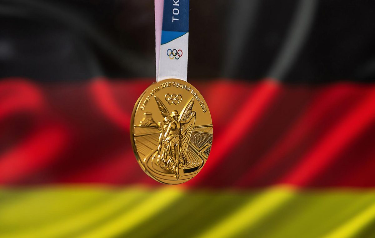 Gold medal of the XXXII Summer Olympic Games 2020 in Tokyo